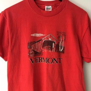 90s Vintage Graphic Shirt Vermont Single Stitch M